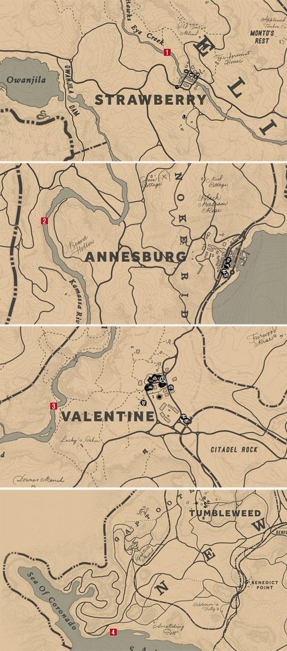 イカれた説教師の出現場所マップ