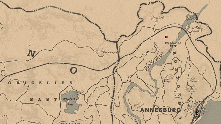ブッチャークリークに住む女性の場所マップ