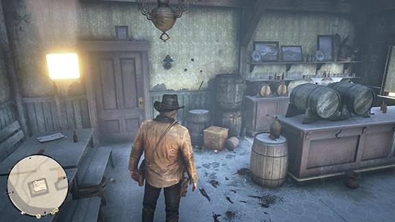 古い酒場の画像