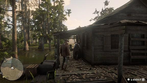 シェイディベルのキャンプにいるレオポルド