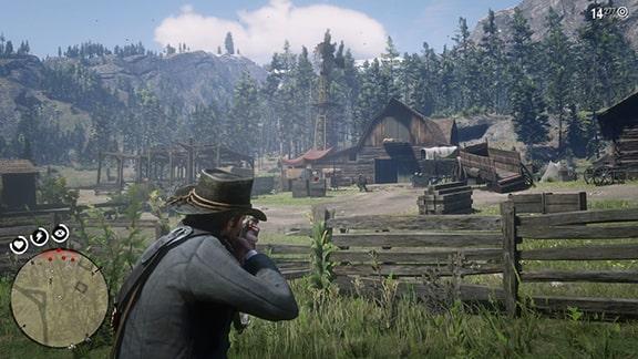 ハンギングドッグ牧場での銃撃戦画像