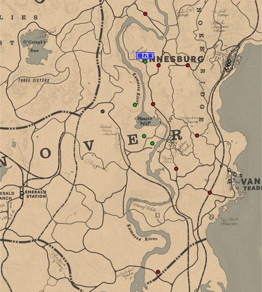 マーフリー・ブルードの出現場所マップ