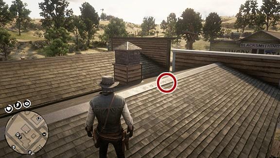 Map5の床屋西にある建物の屋根画像