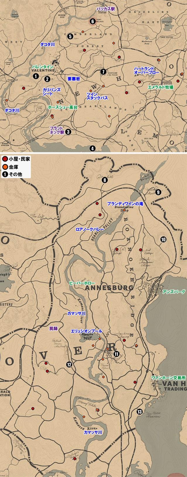 ニューハノーバー州のマップ