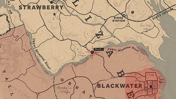 ブラックウォーター手前のマップ