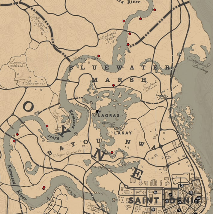 オレアンダーセージの入手場所のマップ