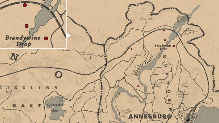 オレガノの入手場所のマップ