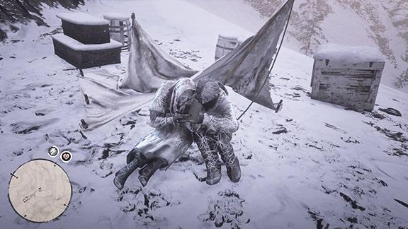 凍死したカップルの死体の画像