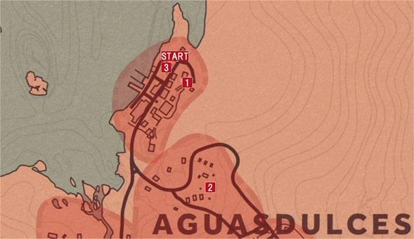 レッドデッドリデンプション2の楽園からの脱出のミッションの攻略マップ