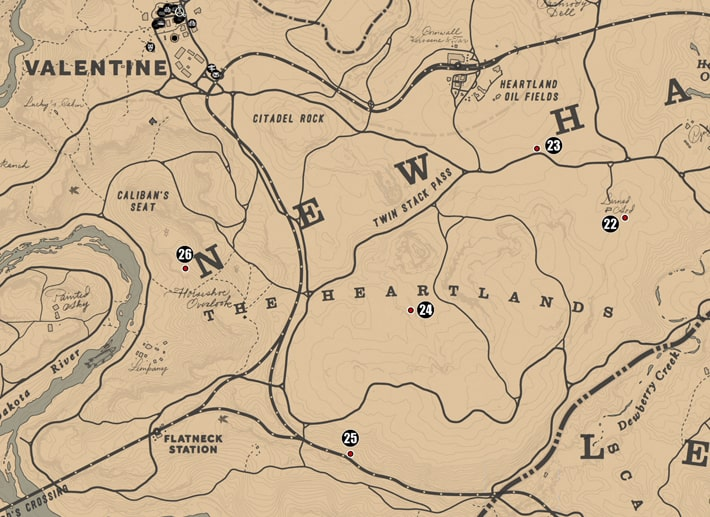 ニューハノーバー州・ハートランドの注目ポイントの場所のマップ