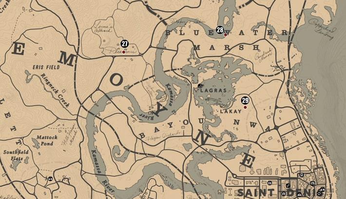 ルモワン州北部の注目ポイントの場所のマップ