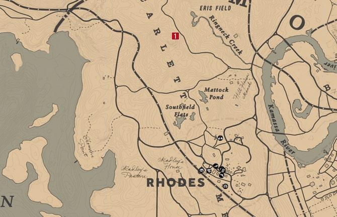 毒にまみれた道の地図1の場所マップ