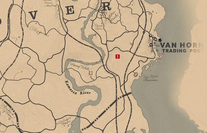 毒にまみれた道の地図2の場所マップ