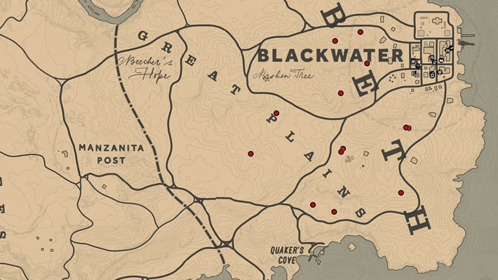 プレーリーポピーの入手場所のマップ