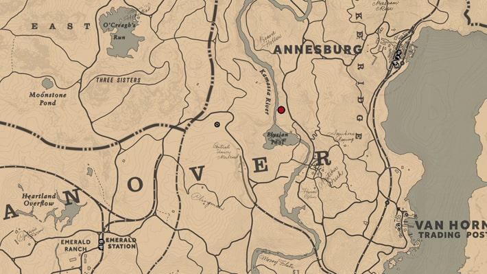 イザボー・カタリナ王女の情報を得れる場所のマップ
