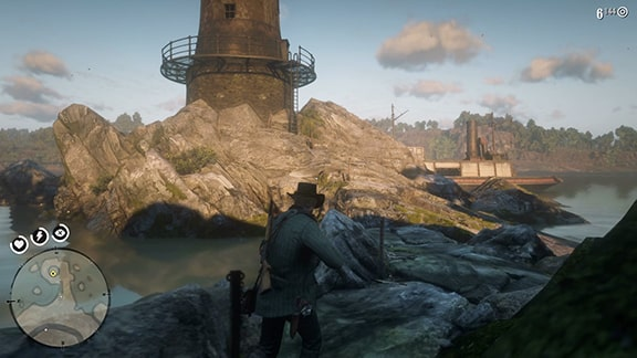 灯台の風景