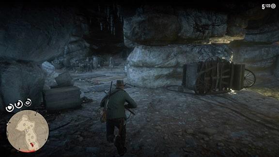 ジョンと二人で洞窟へ逃げ込むシーン
