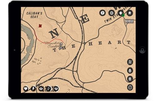 レッドデッドリデンプション2・コンパニオンアプリのマップ画像