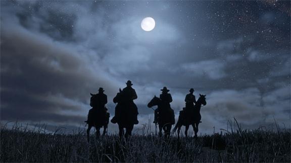 レッドデッドリデンプション2の真夜中の月とギャングたち