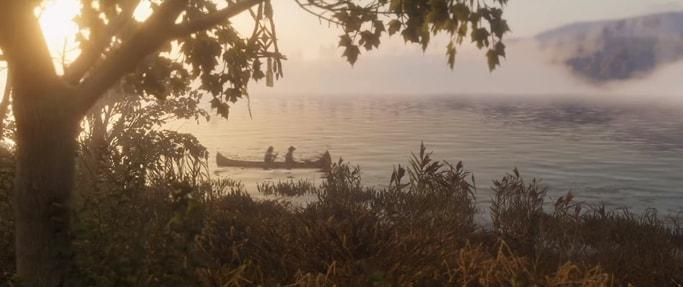 RDR2の湖の風景画像