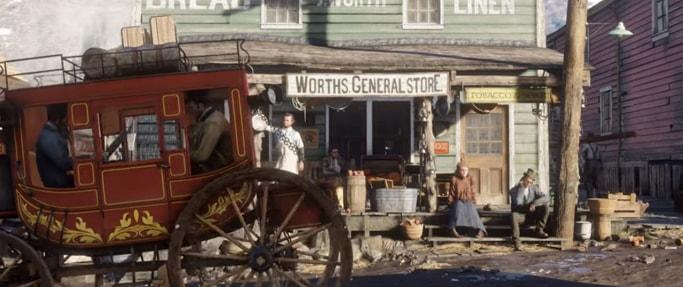 Red Dead Redemption2の街中の風景