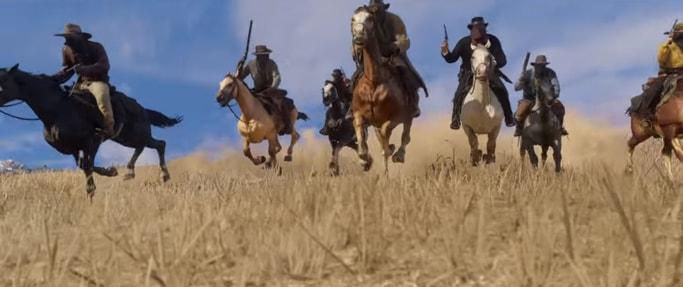 レッドデッドリデンプション2の馬での移動シーン