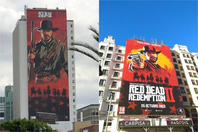 Red Dead Redemption 2のビル広告の画像