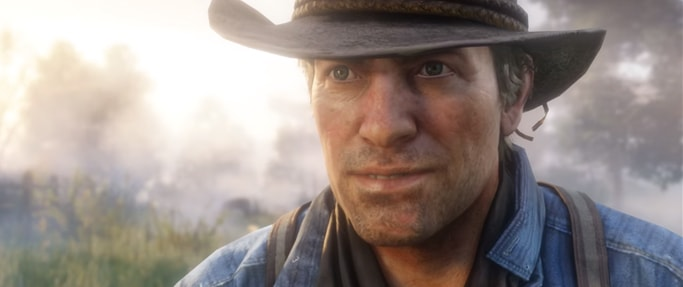Red Dead Redemption2の主人公のアーサー・モーガンの人物画像