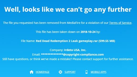 レッドデッドリデンプション2の動画が削除されてしまっているアップロード系サイト