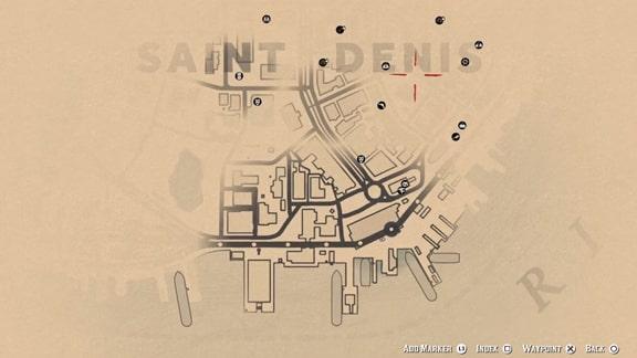 レッドデッドリデンプション2のマップ画像