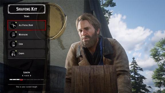 アーサーの髪やヒゲのカット画像