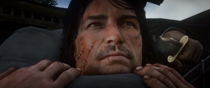 Red Dead Redemption2のジョーンマーストンらしき男の画像