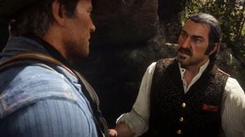 アーサーとダッチが会話している画像