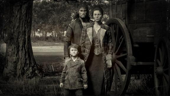 ジョン・マーストンの家族の写真