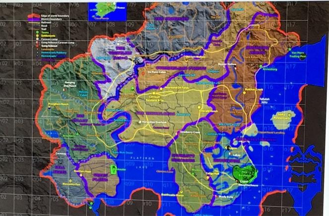リークされたRDR2らしきワールドマップ
