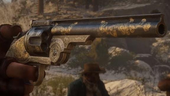 装飾された拳銃の画像