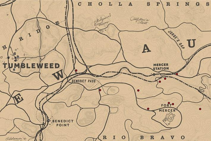 レッドセージの入手場所のマップ