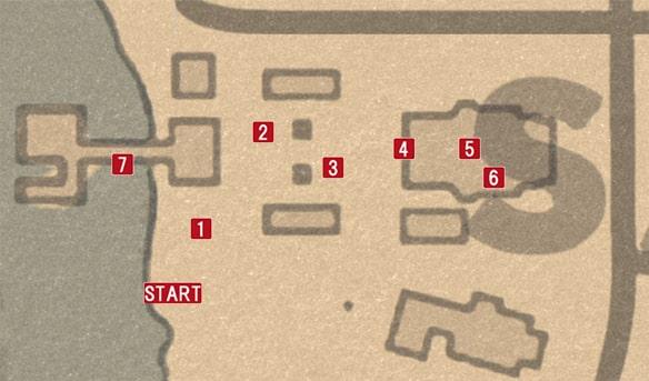 ブロンテの屋敷のマップ