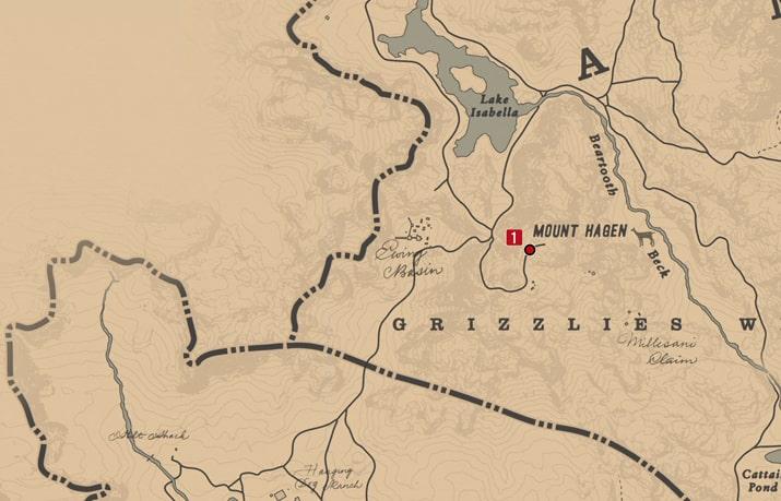 石刻の座標1の発見場所マップ