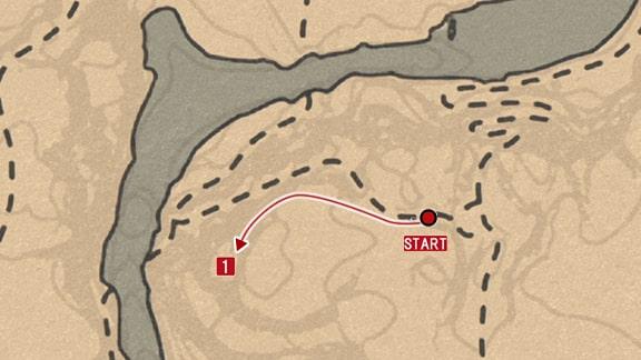 石刻の座標4の拡大マップ