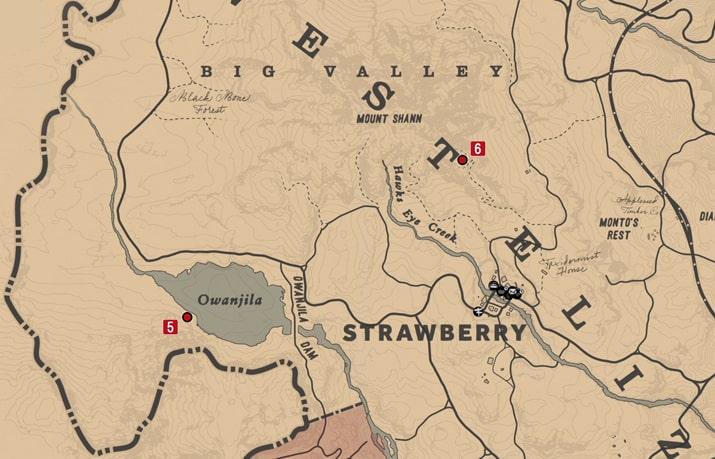 石刻の座標5の発見場所マップ