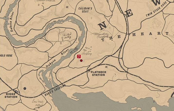 石刻の座標7の発見場所マップ