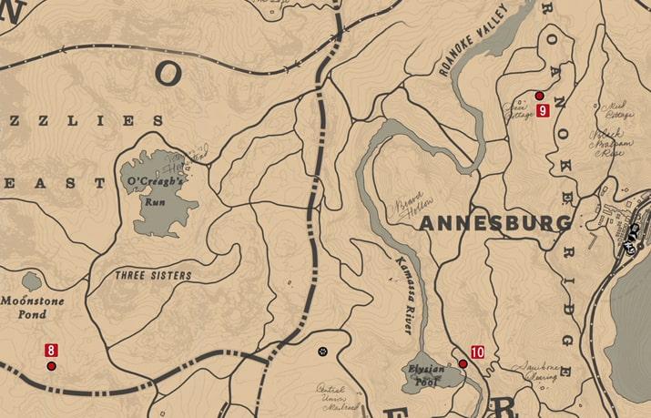 石刻の座標8の発見場所マップ