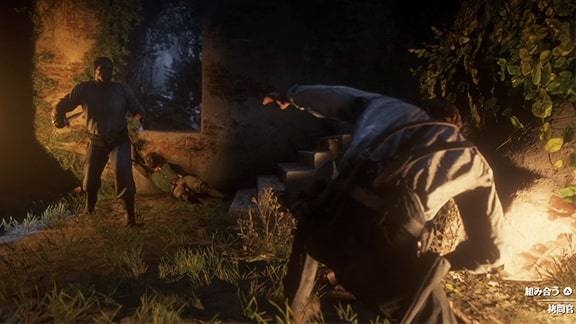 アーサーが拷問官と組み合うときのシーン