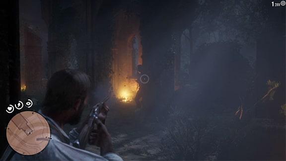 フサーの手下との銃撃戦の画像