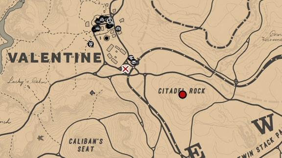 丘からスナイパーライフルで狙う場所のマップ
