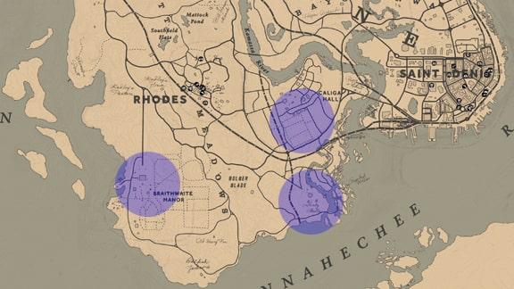 チャレンジ達成の場所のマップ