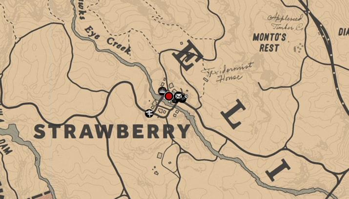 ストロベリー(雑貨屋)の店強盗マップ