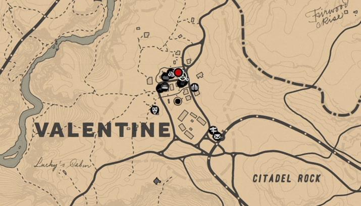 バレンタイン(医者)の店強盗マップ