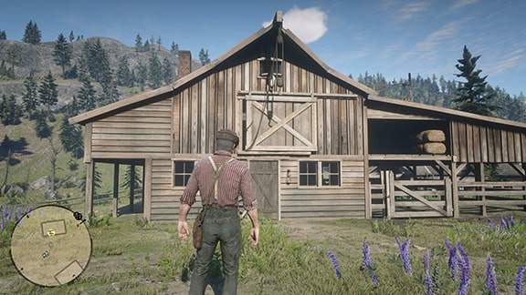 プロングホーン牧場の小屋